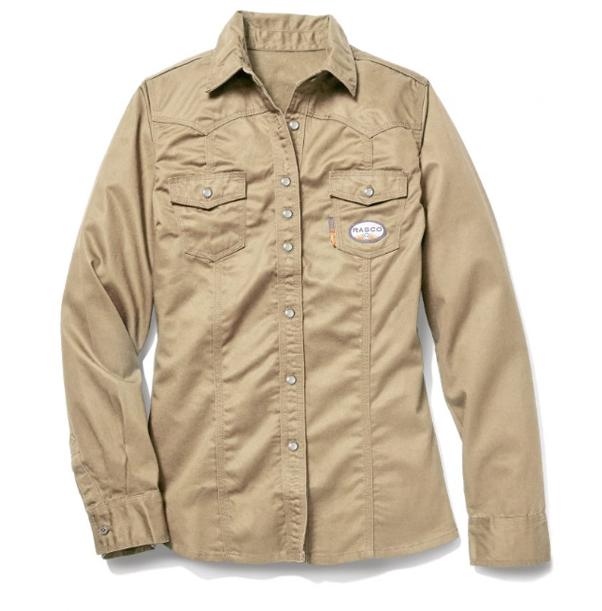 02c72f88df84 Rasco Women s FR Khaki Work Shirt with Snaps